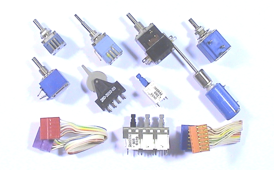 TEKTRONIX Potentiometers, Switches, Connectors